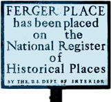 Ferger Place has been placed on the National Register of Historic Places by the U.S. Dept. of Interior